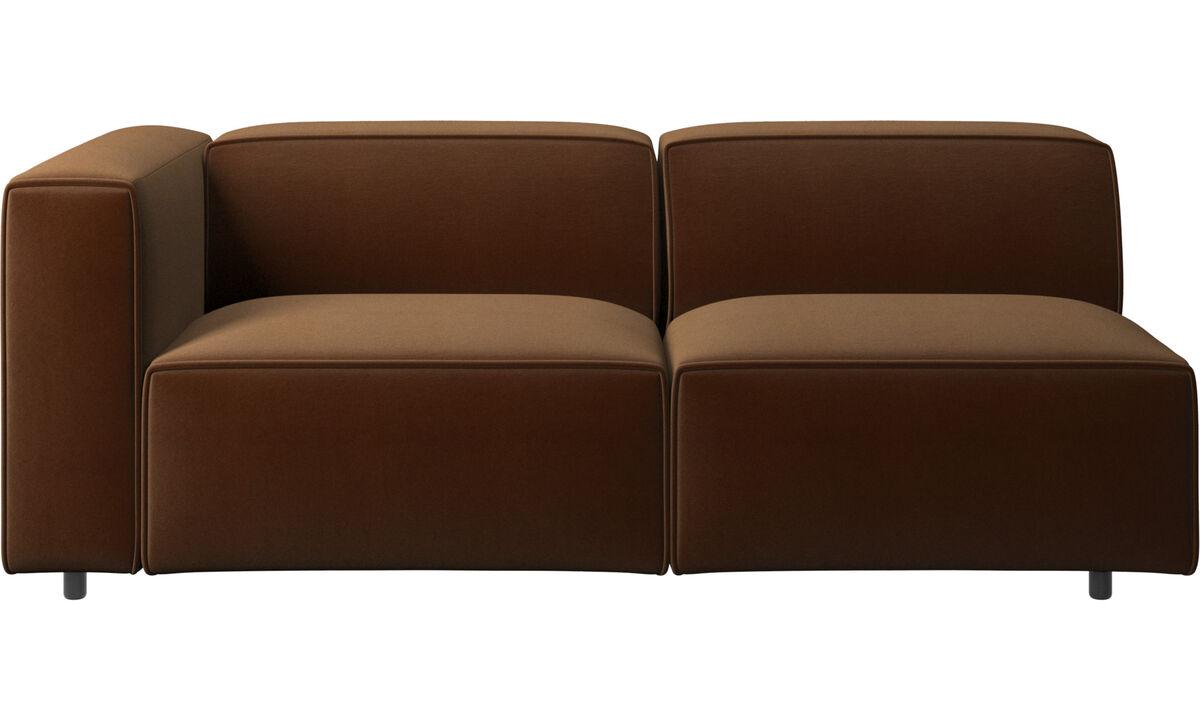 Sofás de 2 plazas y media - sofá Carmo - En marrón - Tela