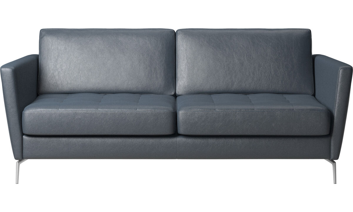 Sofa beds - Osaka sofa bed, tufted seat - Blue - Fabric