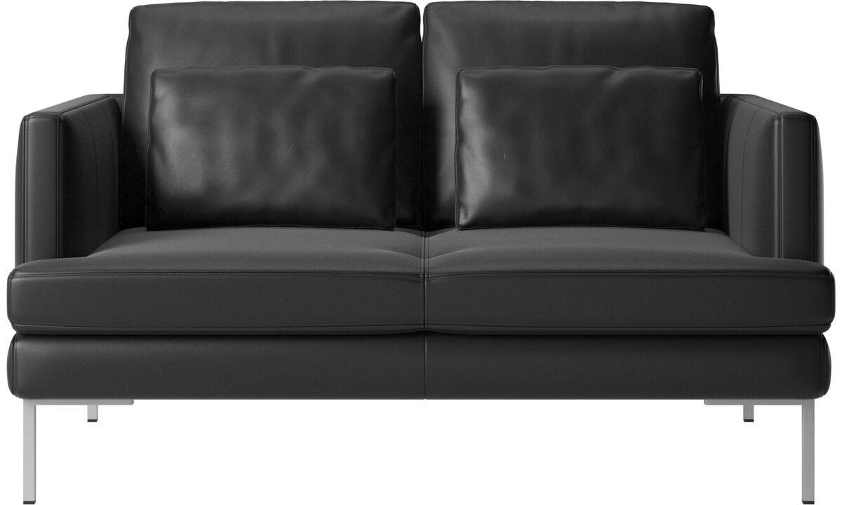 Sofás de 2 plazas - sofá Istra 2 - En negro - Piel