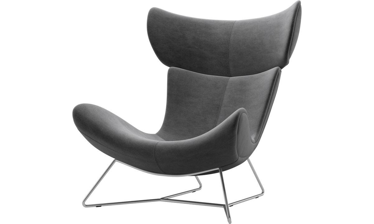 Armchairs - Imola chair - Gray - Fabric