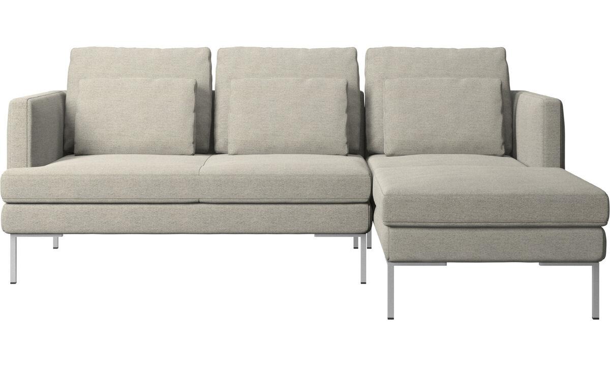 Диваны с козеткой - диван Istra 2 с модулем для отдыха - Бежевого цвета - Tкань