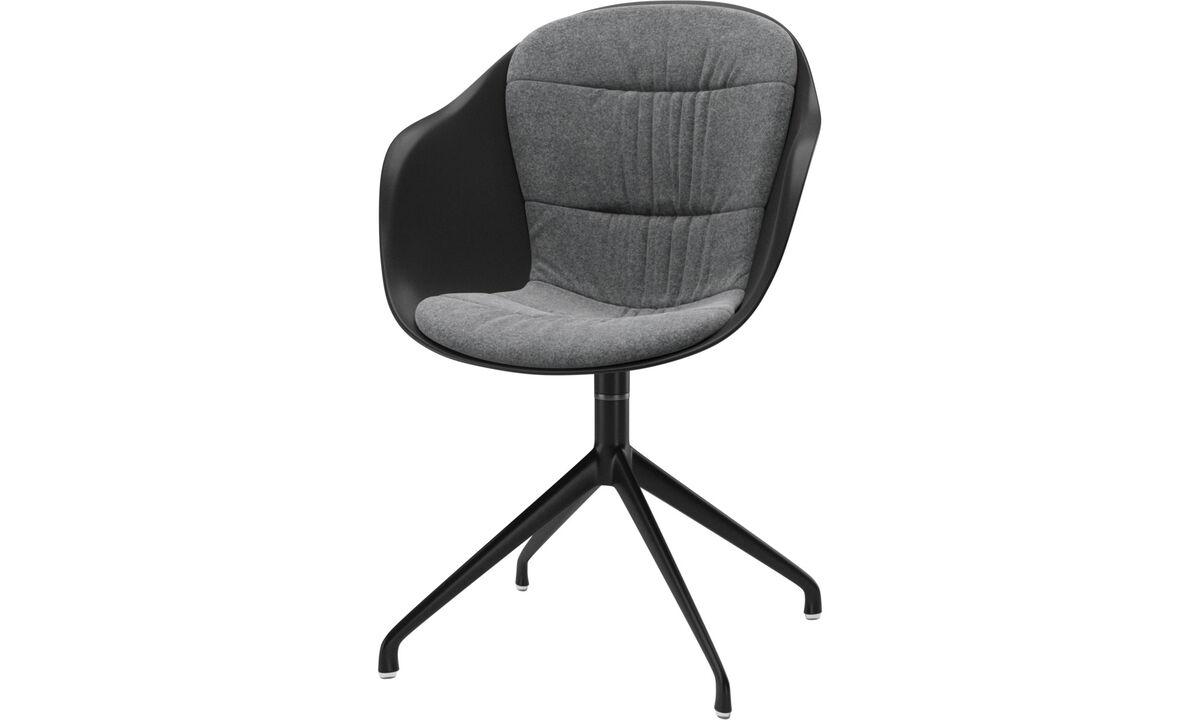 Chaises de salle à manger - Chaise Adelaide avec fonction pivotante - Gris - Tissu
