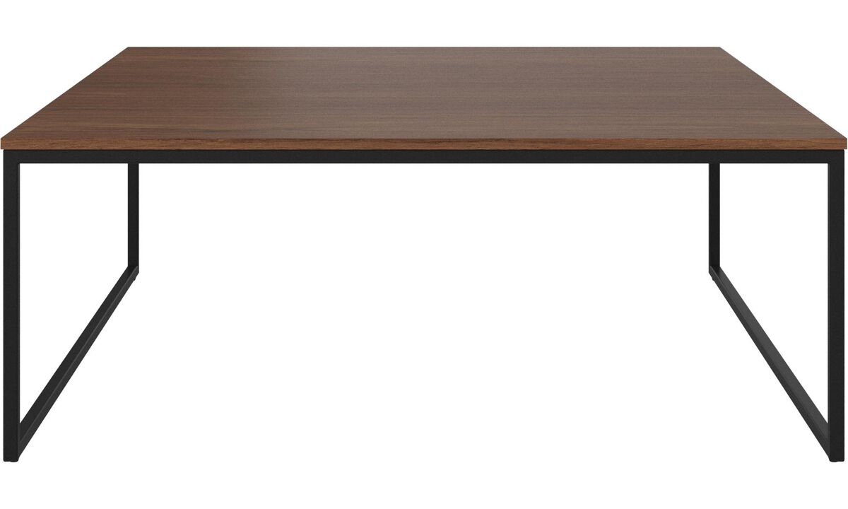 Side tables - Lugo coffee table - rectangular - White - Walnut