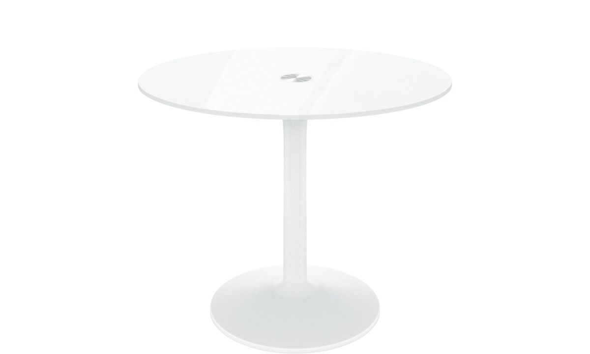 Dining tables - New York table - round - White - Glass