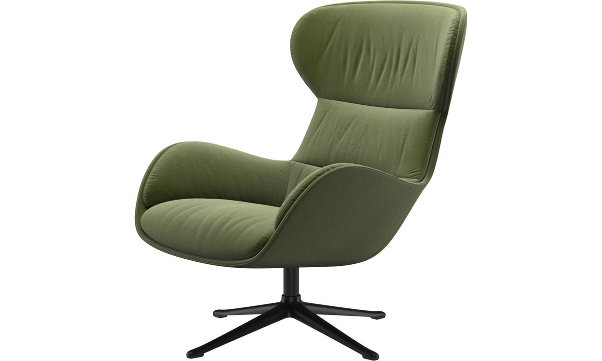 Armchairs - Reno chair with swivel function - Green - Fabric