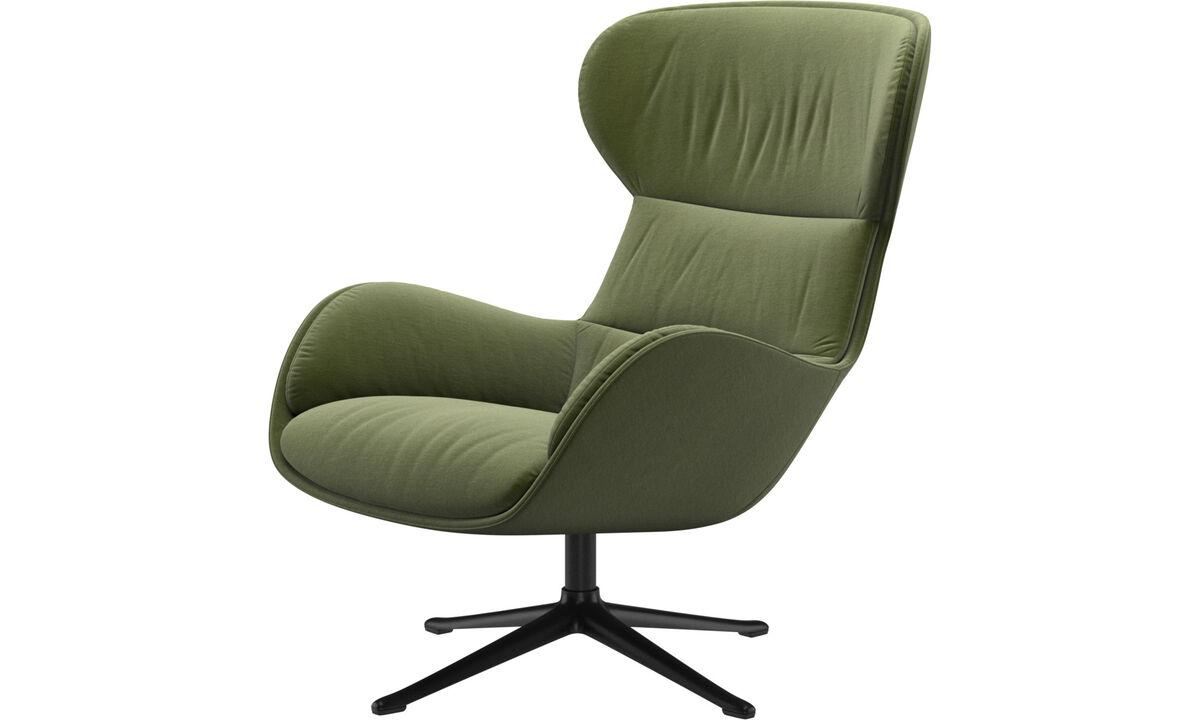 Fauteuils - fauteuil Reno avec fonction pivotante - Vert - Tissu