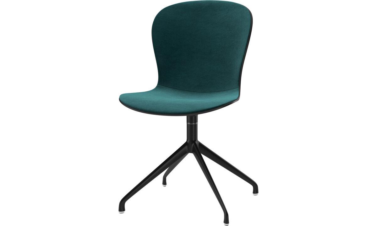 Sillas de comedor - silla Adelaide con función giratoria - En azul - Tela
