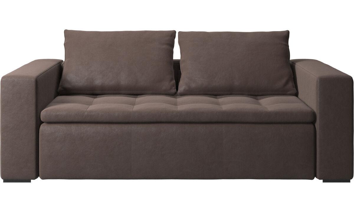 小户型沙发 - Mezzo 沙发 - 褐色 - 革