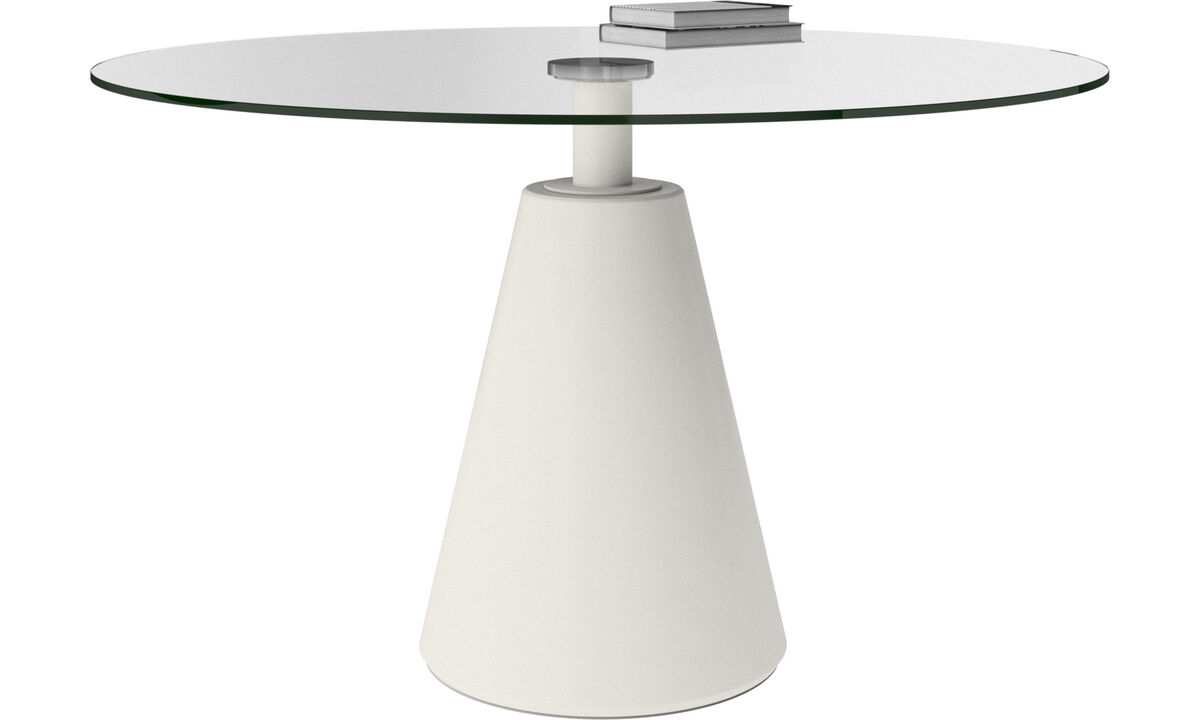 Dining tables - Madrid table - round - Clear - Glass