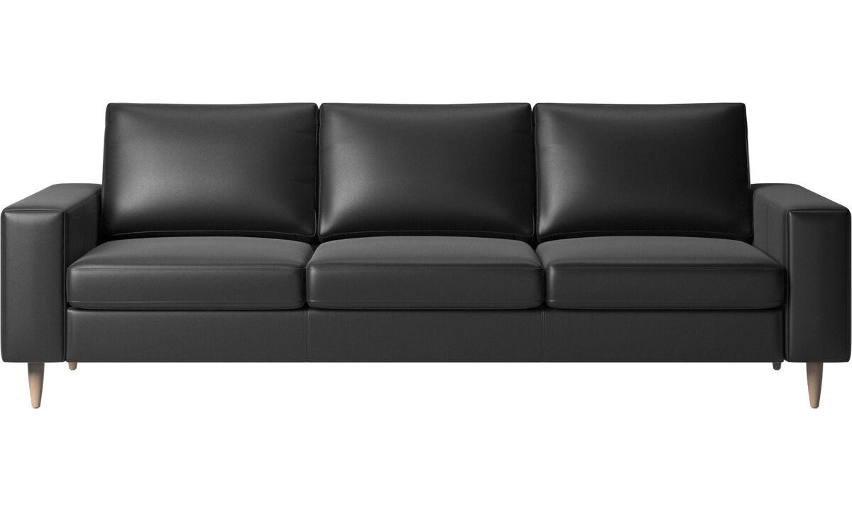 NAHKA VIIKONLOPPU: 20% alennus kaikista nahkaisista kalusteista - Indivi 2-sohva - Musta - Nahka