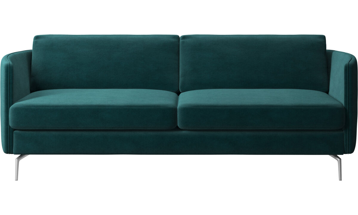 2.5 seater sofas - Osaka sofa, regular seat - Blue - Fabric