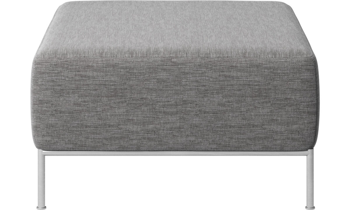 Footstools - Miami footstool - Grey - Fabric