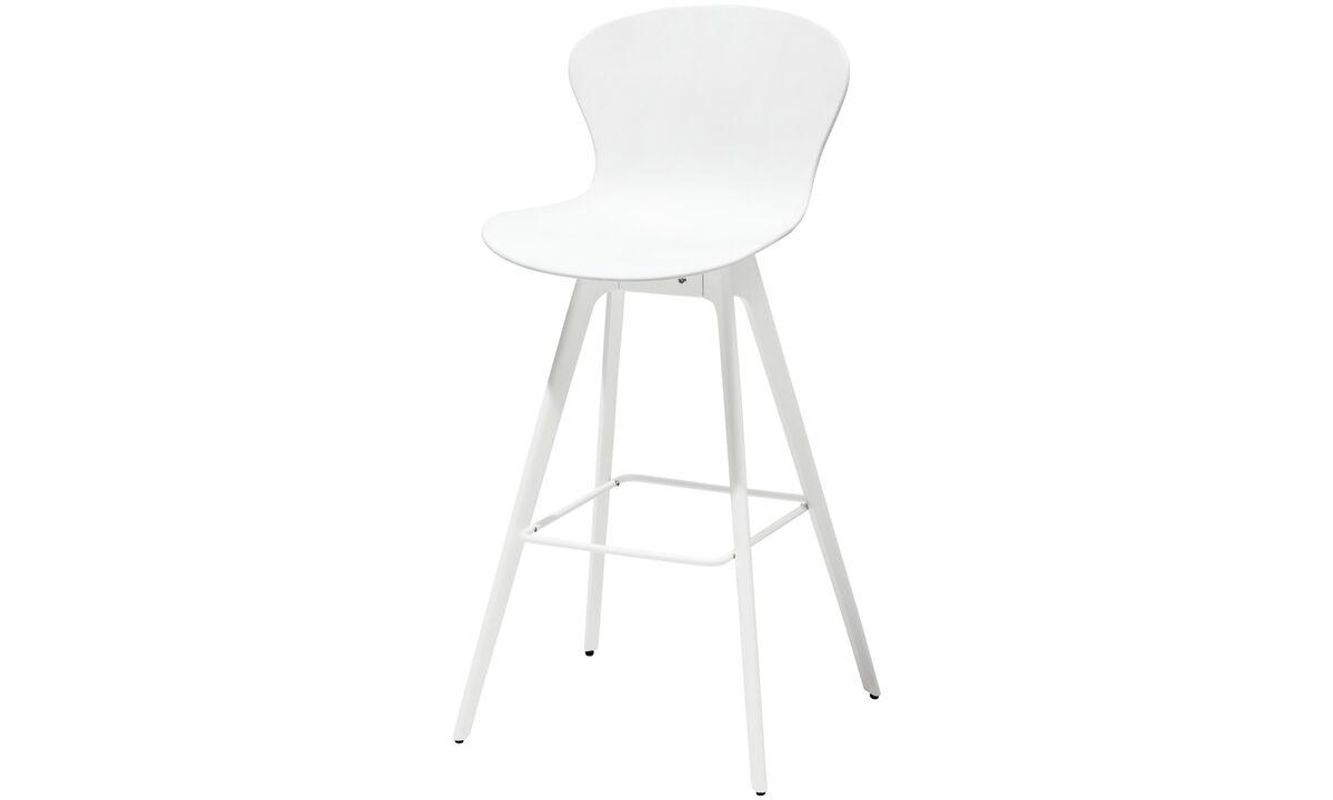 Tabourets de bar - Chaise de bar Adelaide - Blanc - Plastique