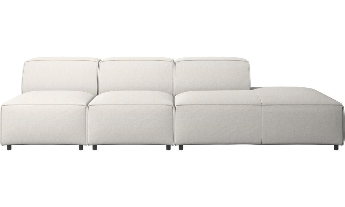 Sofás con lado abierto - sofá Carmo con módulo de descanso - Blanco - Tela