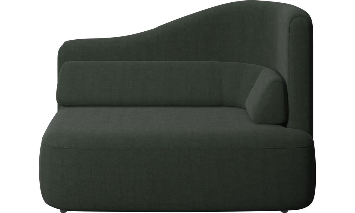 Sofás modulares - assento Ottawa 1,5 braço direito - Verde - Tecido