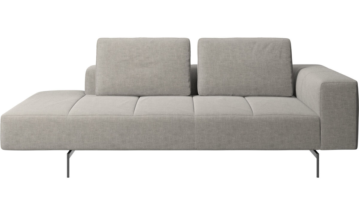 Modular sofas - Amsterdam resting module for sofa, large armrest left - Grey - Fabric