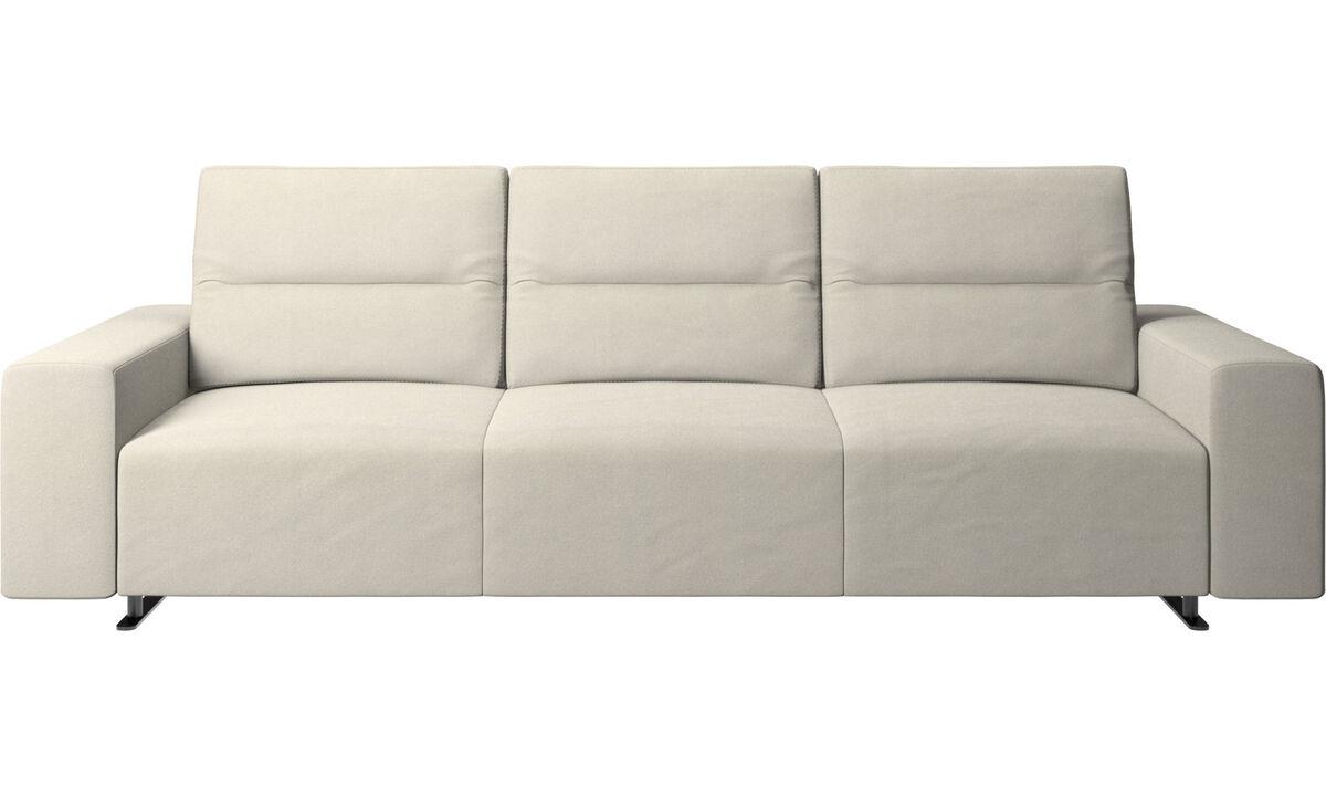 3 seater sofas - Hampton sofa with adjustable back - White - Fabric