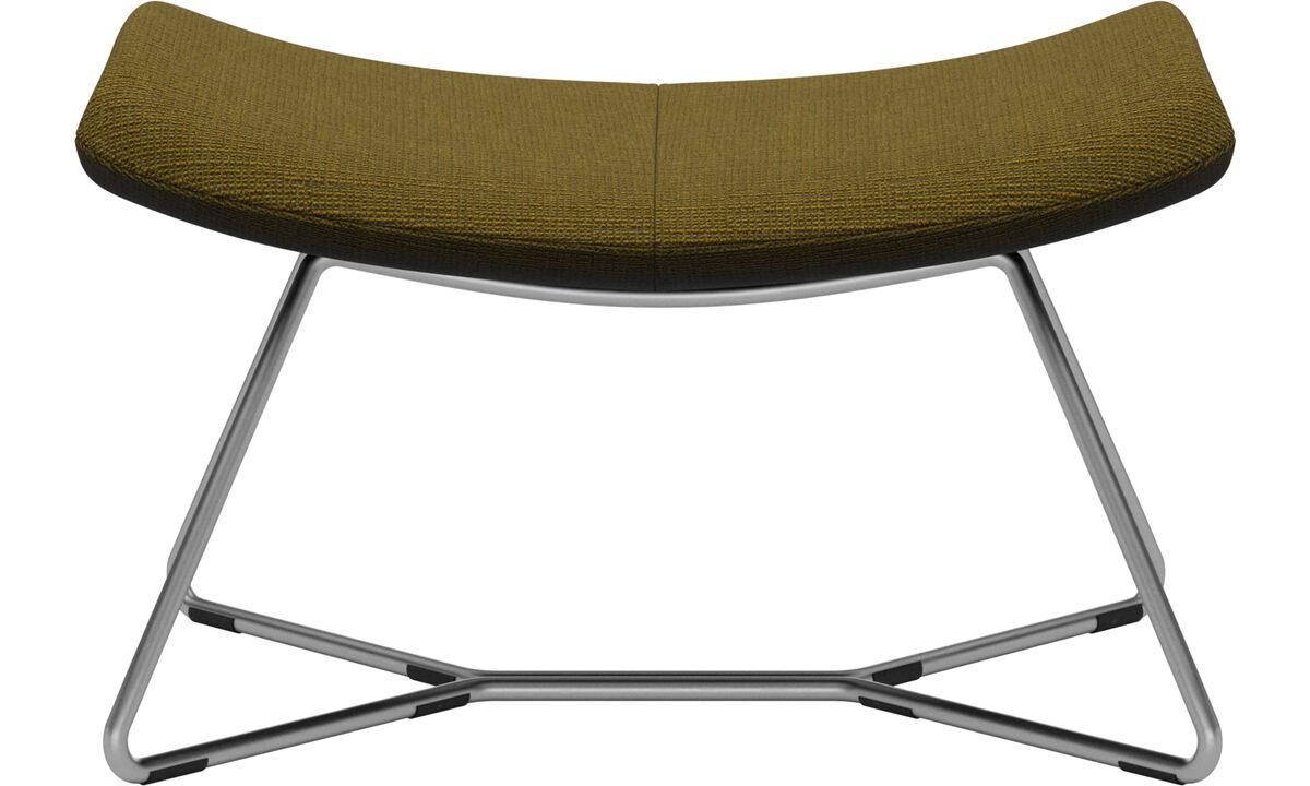 Armchairs and footstools - Imola footstool - Yellow - Fabric