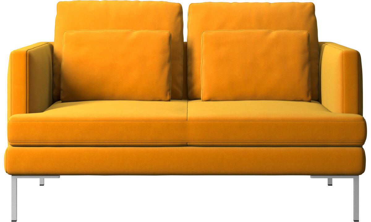 2 seater sofas - Istra 2 sofa - Orange - Fabric