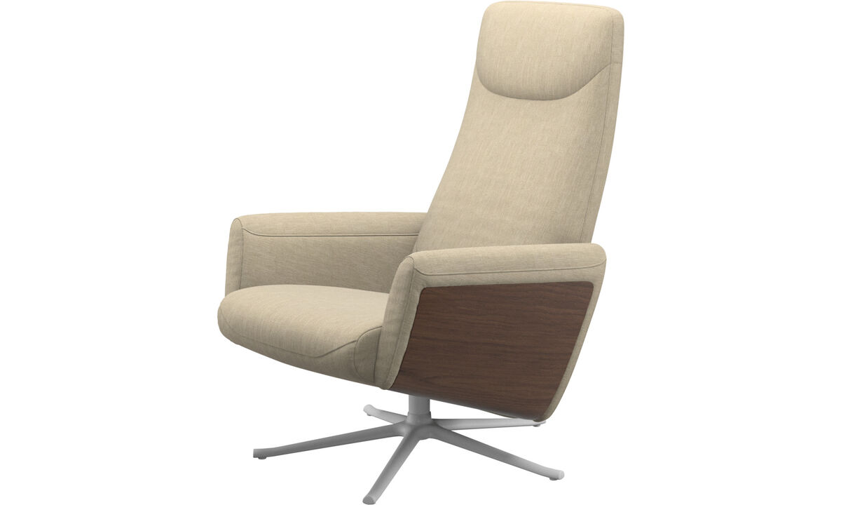 Relax-Sessel - Lucca Relax-Sessel mit Drehfunktion - Braun - Stoff