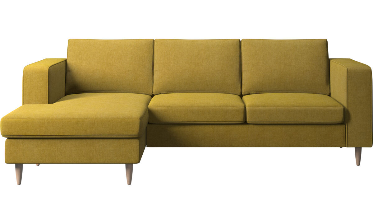 Chaise longue sofas - Indivi sofa with resting unit - Yellow - Fabric