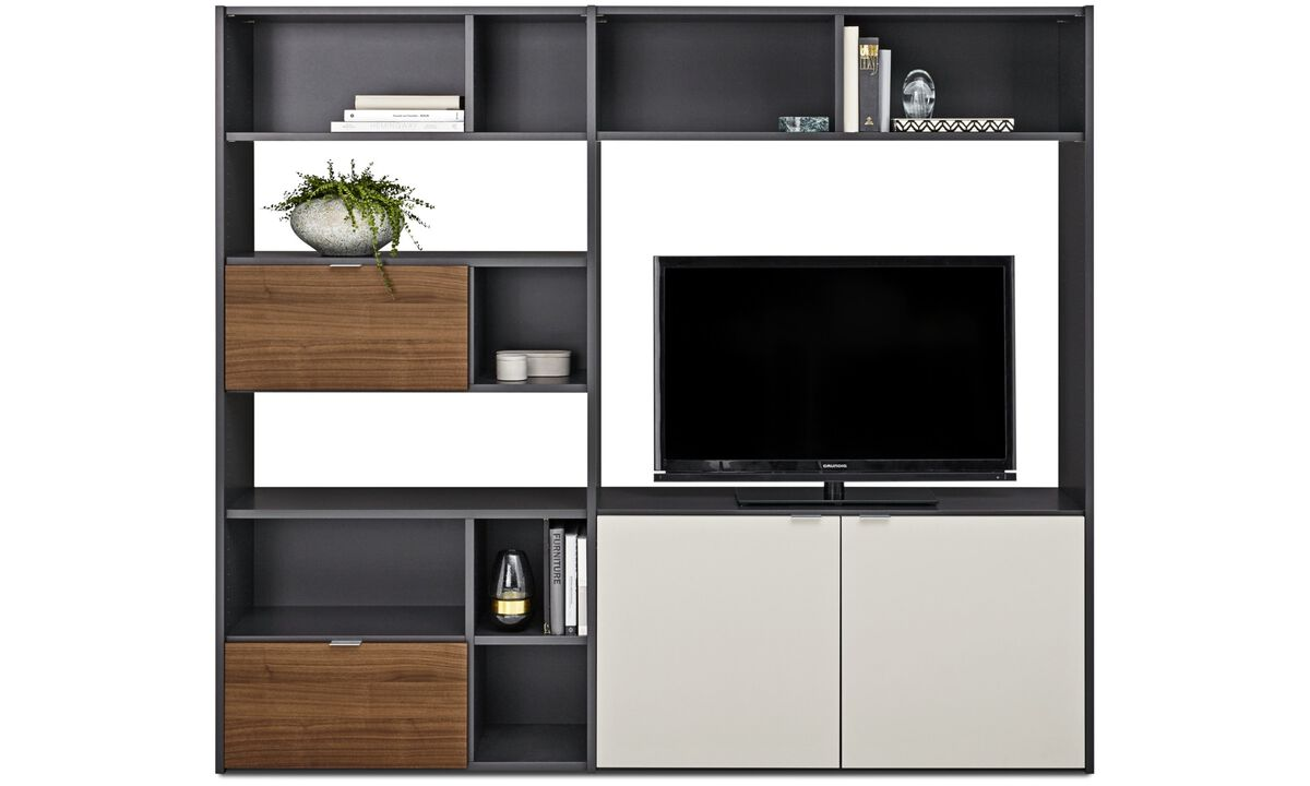 wall furniture shelves. Wall Units - Copenhagen System Grey Lacquered Furniture Shelves