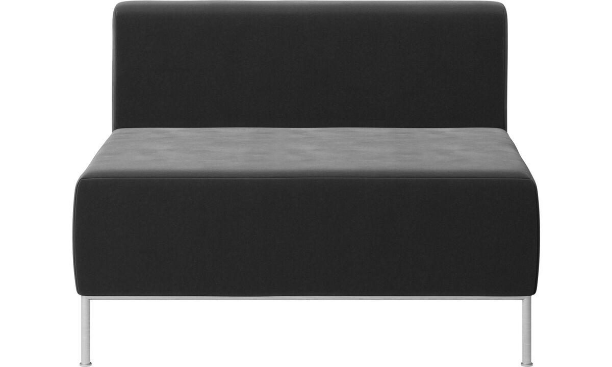 Modular sofas - Miami seat with back - Black - Fabric