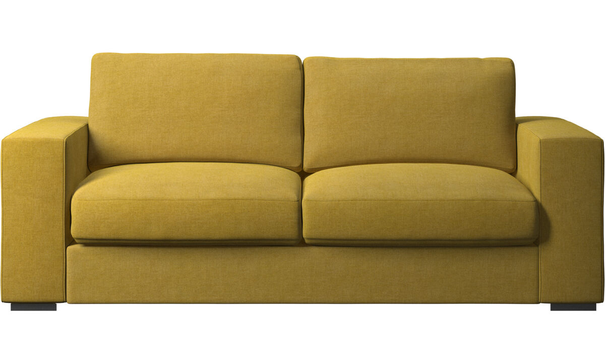 Sofás de 2 plazas y media - Sofá Cenova - En amarillo - Tela