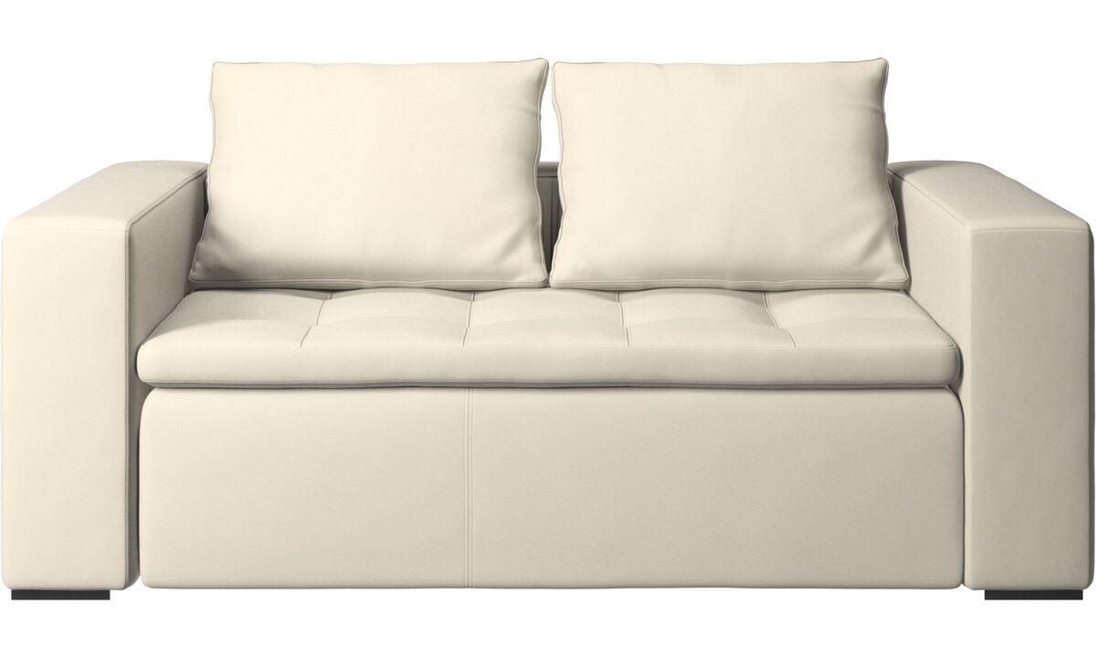 2 seater sofas - Mezzo sofa - White - Leather