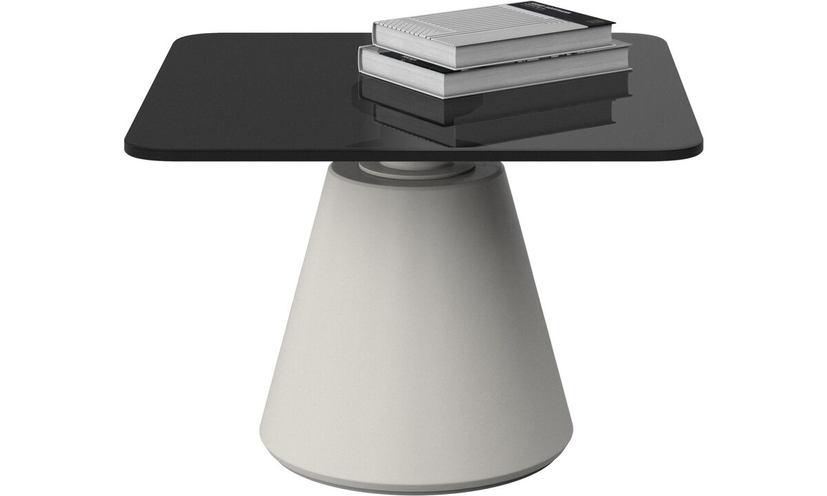 Coffee tables - Madrid tavolino - quadrata - Grigio - Cristallo
