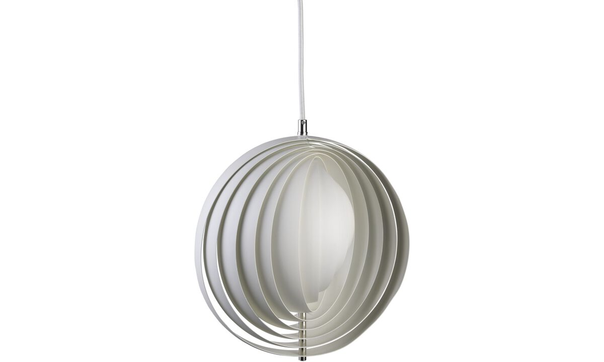 Lamps - Moon pendant - White - Metal