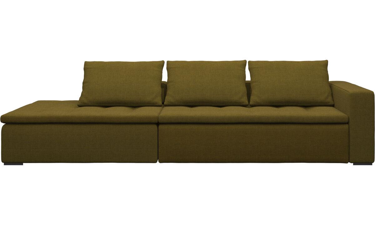 Sofas with open end - Mezzo divano con lounge - Giallo - Tessuto