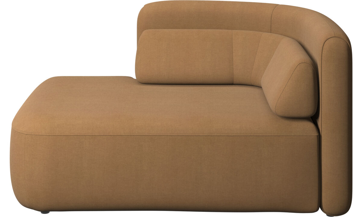 Modular sofas - Ottawa 1,5 seater open end left side - Brown - Fabric