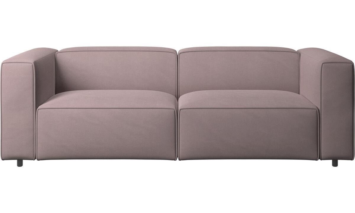 Sofás reclinables - Sofá Carmo con movimiento - Morado - Tela