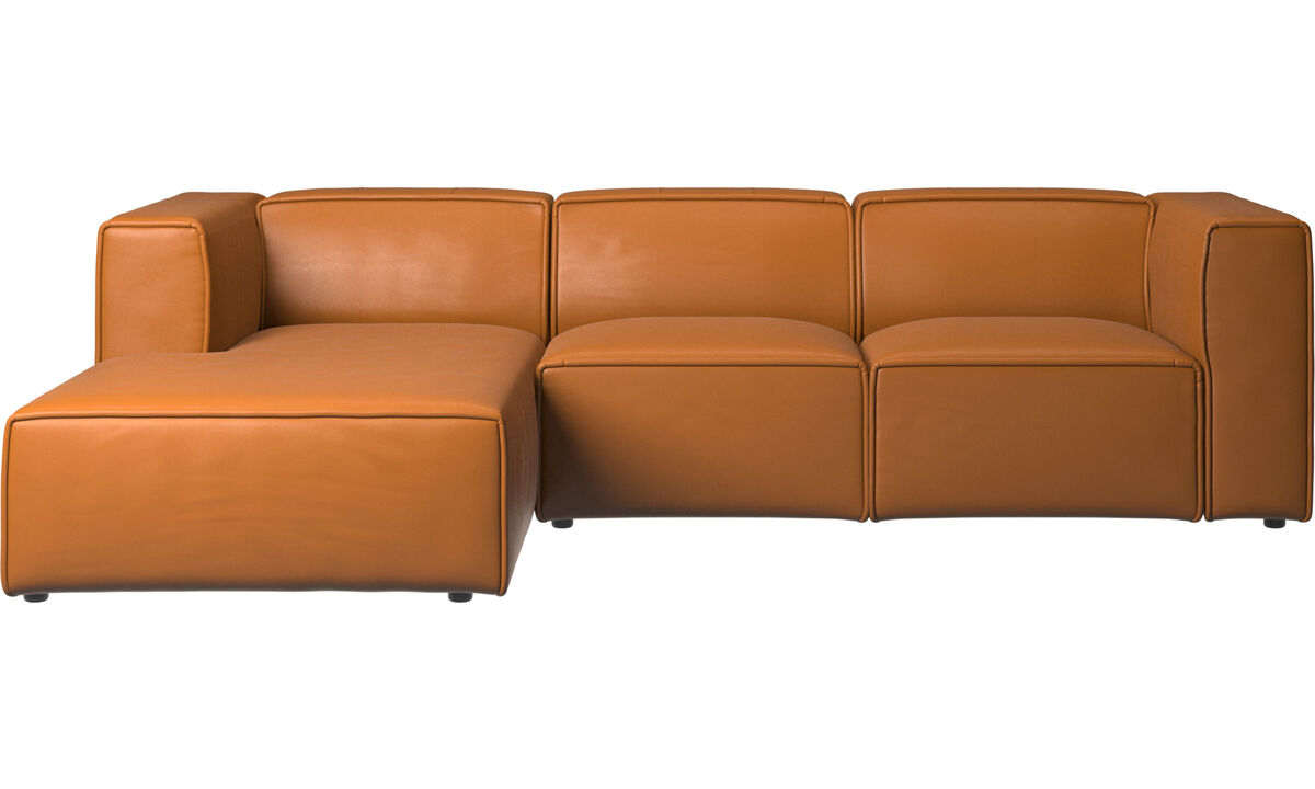 Recliner sofas - Carmo motion sofa with resting unit - Brown - Leather