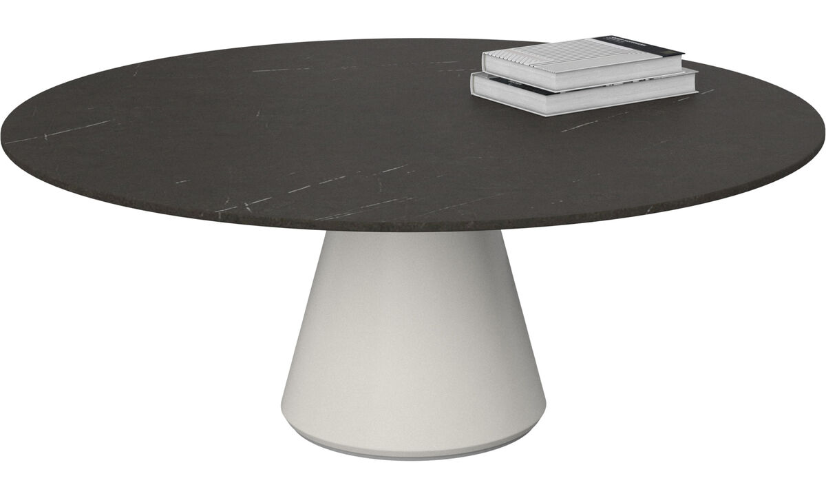 Coffee tables - Madrid coffee table - round - Black - Ceramic