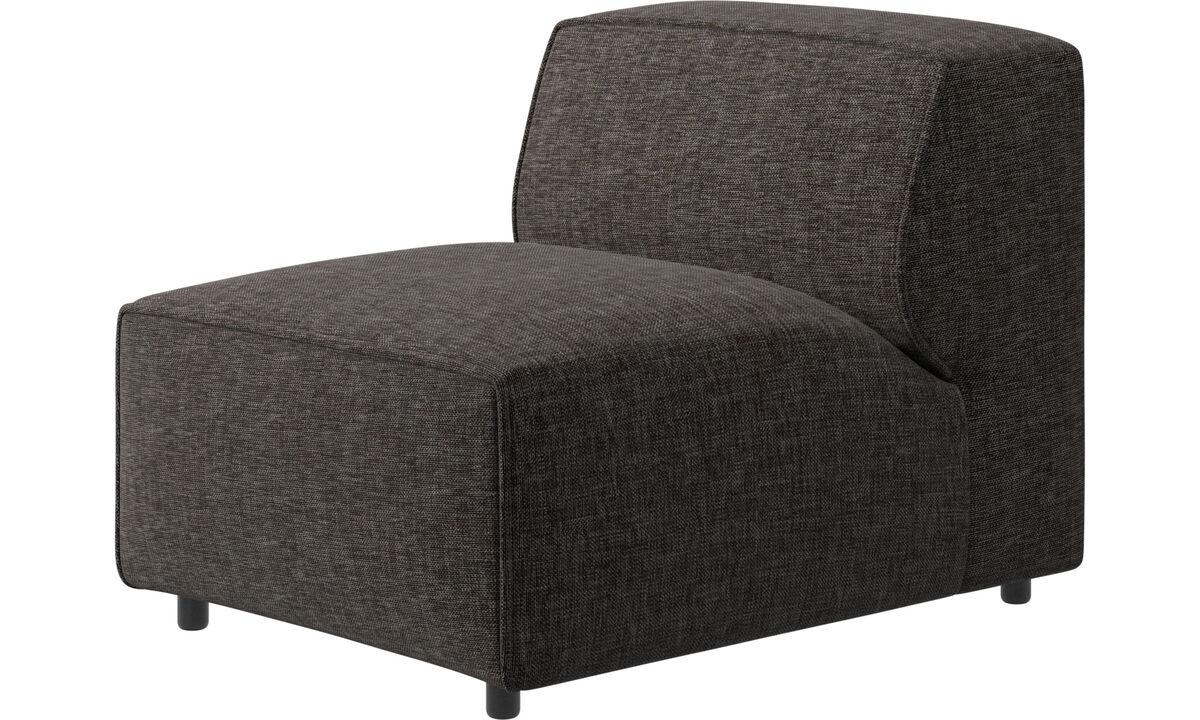Modulære sofaer - Carmo stol/grundmodul - Brun - Stof