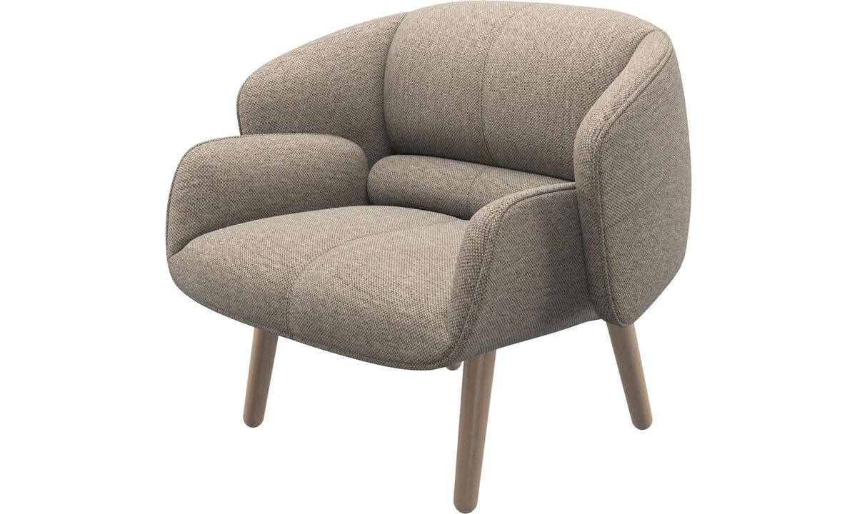 單椅 - fusion 單椅 - 米色 - 布艺