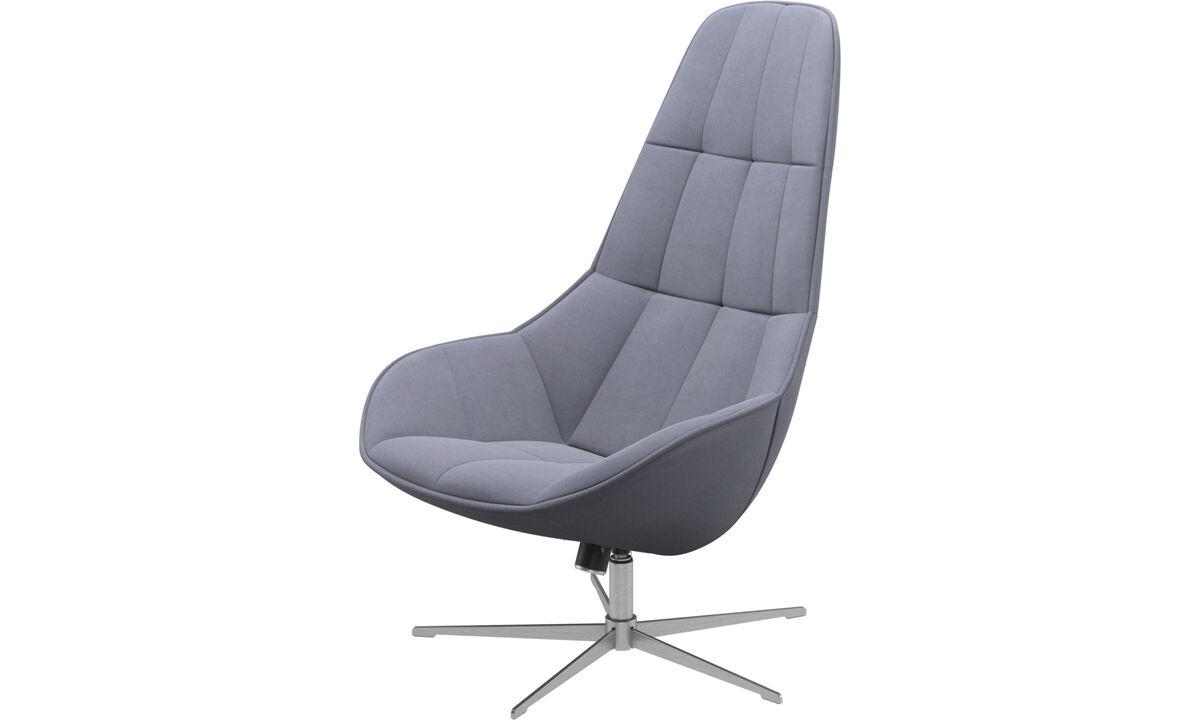 Fauteuils - Boston fauteuil met draai- en kantelfunctie - Blauw - Stof