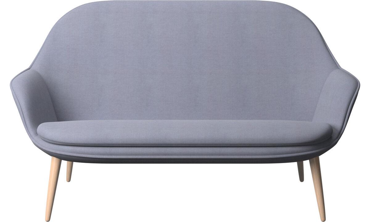 2-sitzer Sofas - Adelaide Sofa - Blau - Stoff