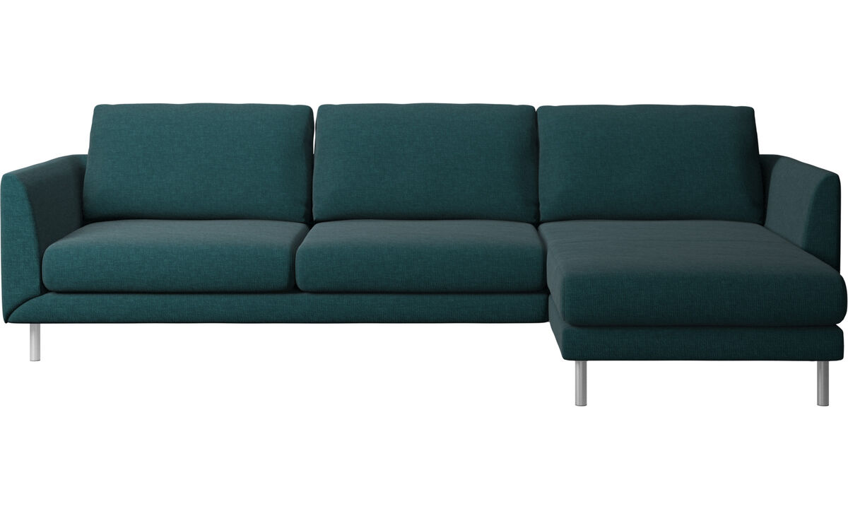 Chaise longue sofas - Fargo sofa with resting unit - Blue - Fabric