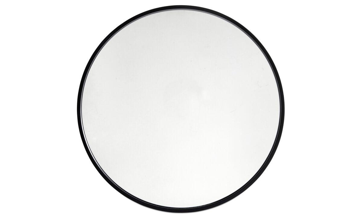 Miroirs - Miroir Ring - Noir - Verre