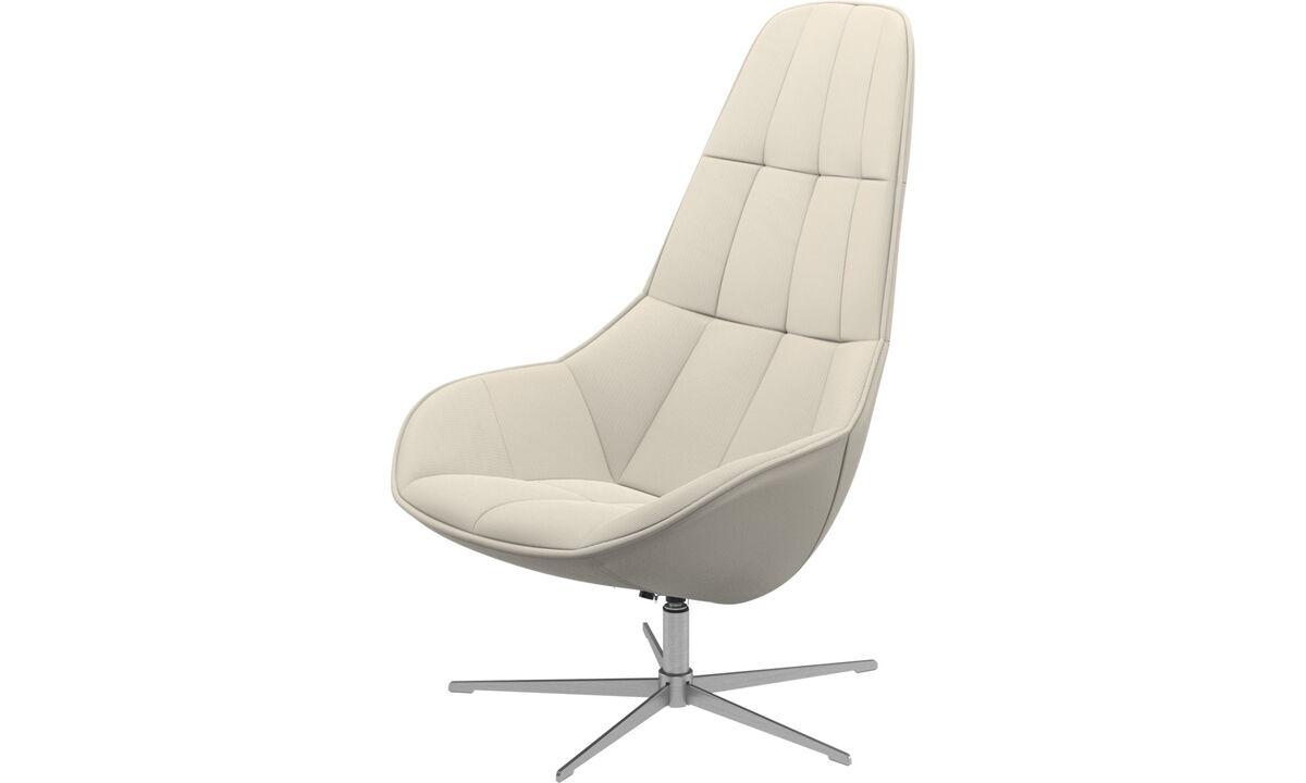 休闲椅 - Boston椅带旋转功能.另有倾斜功能 - 白色 - 布艺