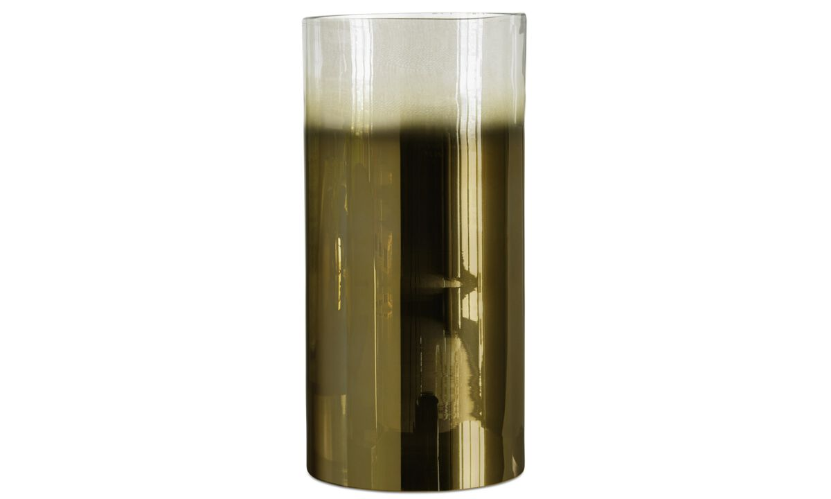 Vases - Cylinder vase - Yellow - Glass