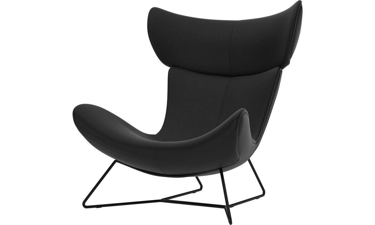 Armchairs - Imola chair - Black - Leather