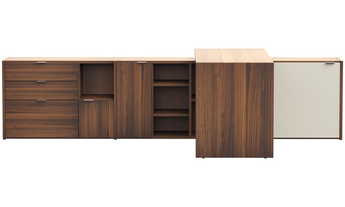 Desks - Copenhagen office system - Brown - Walnut