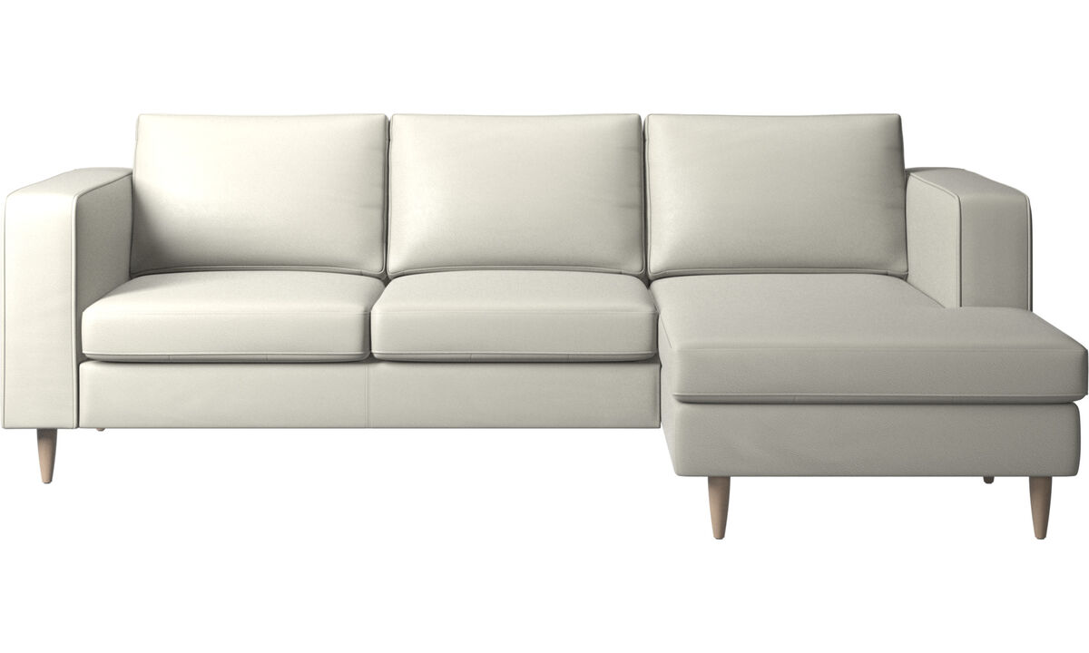 Chaise lounge sofas - Indivi 2 sofa with resting unit - Beige - Leather