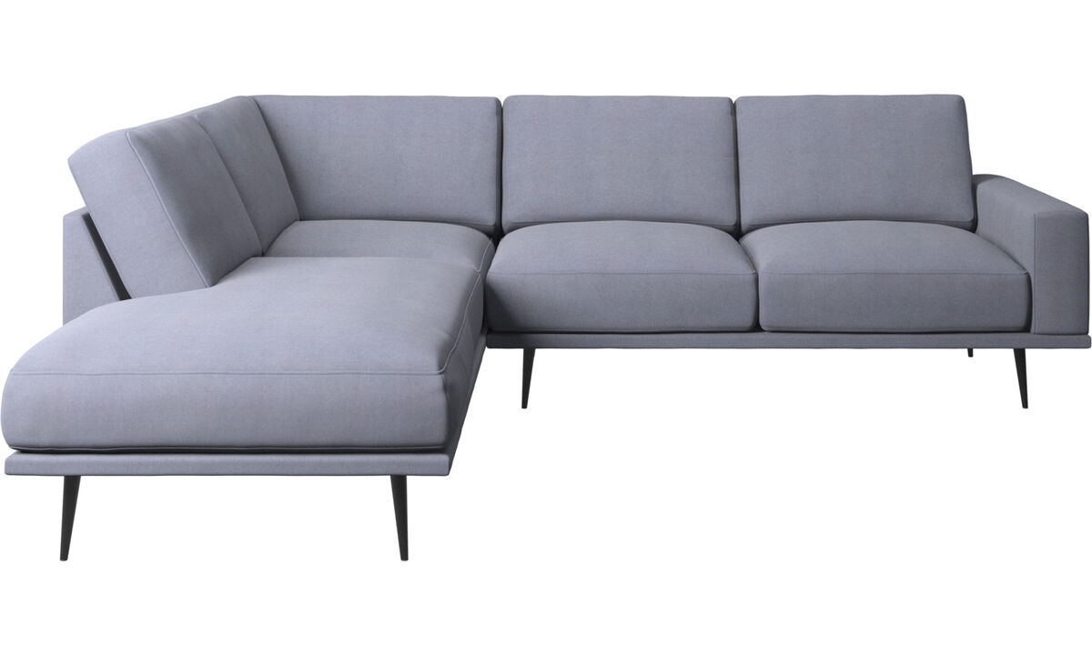 Lounge Suites - Carlton sofa with lounging units - Blue - Fabric