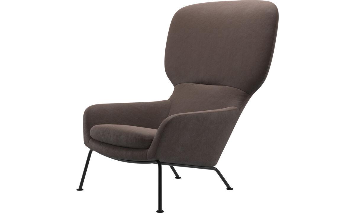 Armchairs - Dublin chair - Brown - Leather