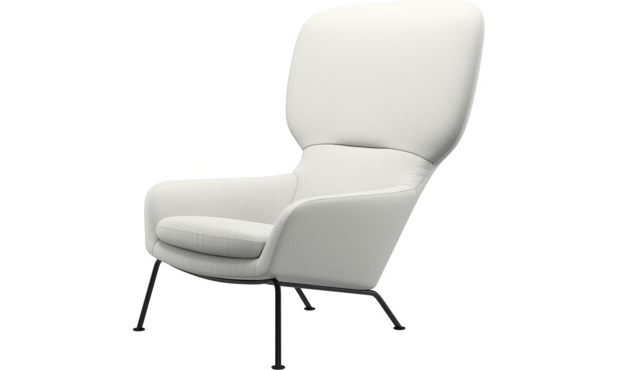 休闲椅 - Dublin椅 - 白色 - 革